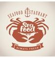 restaurants or seafood shops vector image