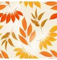 Elegant autumn leaves yellow background vector image