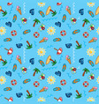 pattern beach holiday summer theme palm vector image