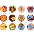 icons zodiac vector image