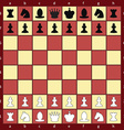 Chess board with figures flat style vector image