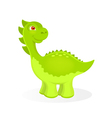 Cartoon dinosaur character vector image