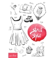 fashion set of trendy look vector image