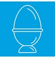 Egg thin line icon vector image