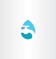 water drop with tap logo icon symbol vector image