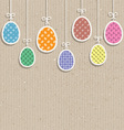 easter eggs on cardboard texture 0803 vector image