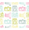 Seamless pattern background with hand drawn vector image vector image