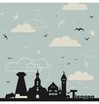 Birds over a city vector image