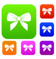 bow set color collection vector image