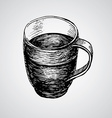 Coffe mugs drawing sketch style vector image