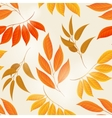Elegant autumn leaves yellow background vector image