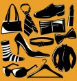 Fashion objects vector image