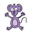 Happy mouse cartoon art vector image