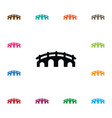 isolated arch icon suspension element can vector image