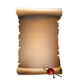 old paper scroll with wax seal vector image