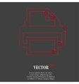 Printer Flat modern web button and space for your vector image
