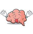 tongue out brain character cartoon mascot vector image
