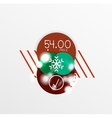 Christmas Sale Paper Stickers vector image