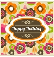 background with frame and pattern vector image vector image