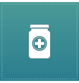 Medical container flat icon vector image