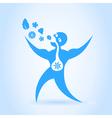 Blue men vector image vector image