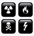 danger signal design vector image