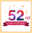 colorful polygonal anniversary logo 2 052 vector image vector image