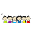 party friends vector image