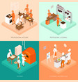 cooking isometric design concept vector image