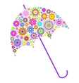 floral umbrella on white background vector image