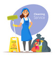 household cleaning concept vector image