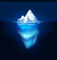 iceberg on dark background block of ice in vector image