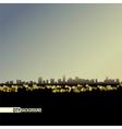 night skyline - background vector image
