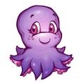 octopus in cartoon style vector image