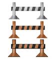 wooden barriers set vector image