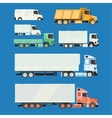 Trucks and trailers on a white background vector image
