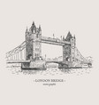 london bridge vintage vector image