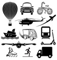 transport icons1 vector image