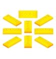Isometric golden bar vector image
