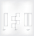 White blank banner flag vector image vector image