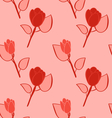Seamless Pattern with Flowers Background with vector image