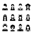 Subcultures People Black And White vector image vector image