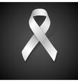 Awareness White Ribbon vector image
