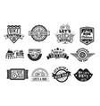 bike badge vintage style set vector image