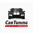 Car tuning shop banner sticker auto vector image
