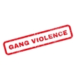 Gang Violence Text Rubber Stamp vector image