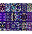 Kaleidoscopic Patterns Set vector image