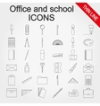 Office and school supplies icons set vector image