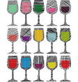 Party glasses vector image