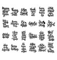 set of hand written lettering motivational quotes vector image